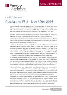 Russia and FSU – Nov / Dec 2016 cover image