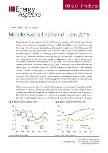 Middle East oil demand - Jan 2016 cover