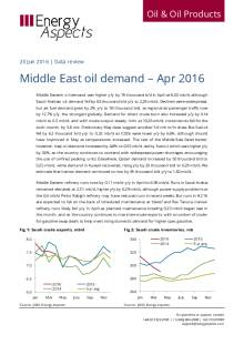 Middle East oil demand - Apr 2016 cover image