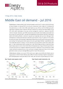 Middle East oil demand – Jul 2016 cover image