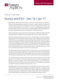 Russia and FSU – Dec 16 / Jan 17  cover image