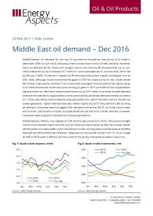 Middle East oil demand – Dec 2016 cover image