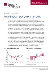 UK oil data – Dec 2016 / Jan 2017 cover image