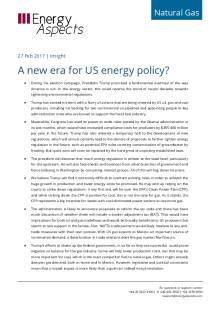 A new era for US energy policy? cover image