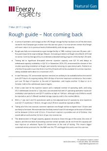 2017-03 Natural Gas - Europe Insight - Rough guide – Not coming back cover
