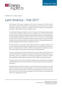 2017-03 Natural Gas - Global LNG Data review - Latin America – Feb 2017 cover