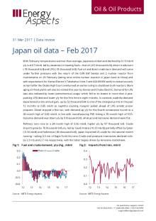 Japan oil data – Feb 2017 cover image