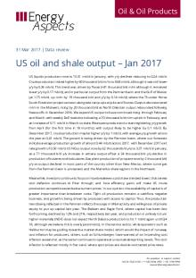 US oil and shale output – Jan 2017 cover image