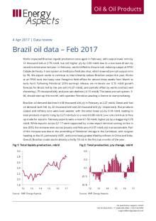 Brazil oil data – Feb 2017 cover image