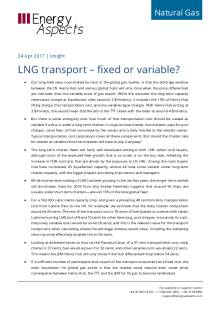 LNG transport – fixed or variable? cover image