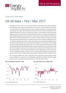 UK oil data – Feb / Mar 2017 cover image