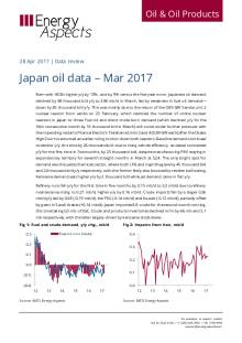 Japan oil data – Mar 2017 cover image