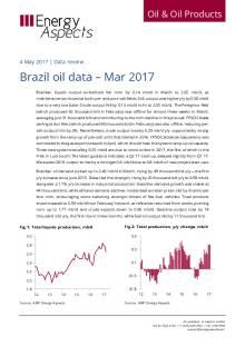 Brazil oil data – Mar 2017 cover image