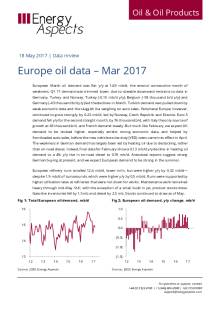 Europe oil data – Mar 2017 cover image