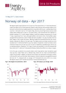 2017-05 Oil - Data review - Norway oil data – Apr 2017 cover