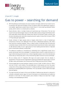 Gas to power – searching for demand cover image