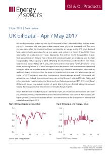 UK oil data – Apr / May 2017 cover image