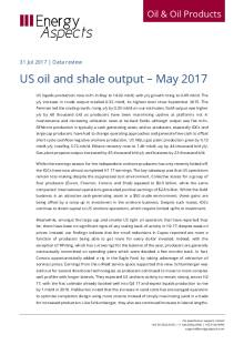 US oil and shale output – May 2017 cover image