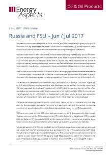 2017-08 Oil - Data review - Russia and FSU – Jun / Jul 2017 cover