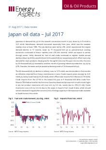 Japan oil data – Jul 2017 cover image