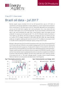 Brazil oil data – Jul 2017 cover image