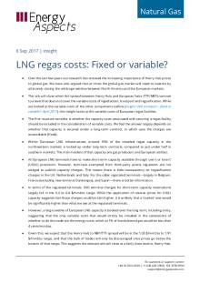 2017-09-06 Natural Gas - Global LNG regas costs: Fixed or variable? cover