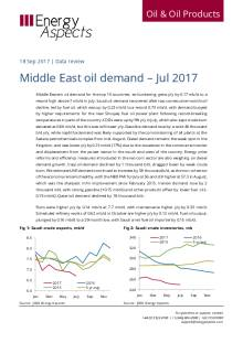 Middle East oil demand – Jul 2017 cover image