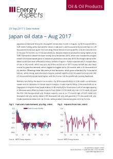 Japan oil data – Aug 2017 cover image