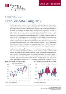 Brazil oil data – Aug 2017 cover image