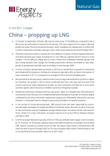 China – propping up LNG cover image