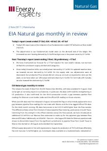 EIA Natural gas monthly in review cover image