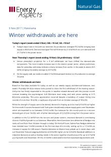2017-11-09 Natural Gas - North America - Winter withdrawals are here cover
