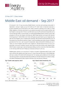 Middle East oil demand – Sep 2017 cover image