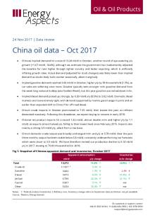 China oil data – Oct 2017 cover image