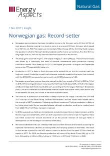 2017-12-01 Natural Gas - Europe - Norwegian gas: Record-setter cover