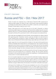 2017-12 Oil - Data review - Russia and FSU – Oct / Nov 2017 cover