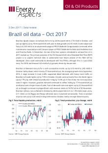 Brazil oil data – Oct 2017 cover image