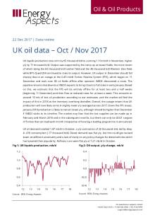 UK oil data – Oct / Nov 2017 cover image