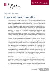 Europe oil data – Nov 2017 cover image