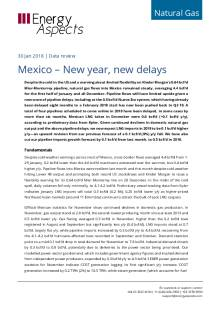 2018-01-30 Natural Gas - North America - Mexico – New year, new delays cover