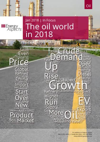 The oil world in 2018 - Energy Aspects
