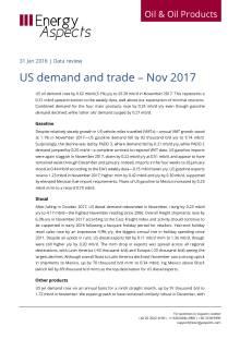 US demand and trade – Nov 2017 cover image