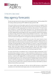 2018-02 Oil - Data review - Key agency forecasts cover