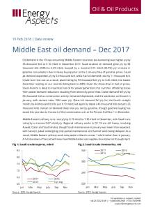 Middle East oil demand – Dec 2017 cover image