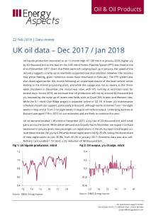 UK oil data – Dec 2017 / Jan 2018 cover image
