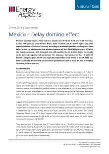 2018-02-27 Natural Gas - North America - Mexico – Delay domino effect cover