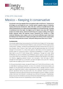 2018-03-27 Natural Gas - North America - Mexico – Keeping it conservative cover