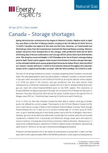 Canada – Storage shortages cover image