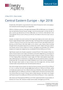2018-05-04 Natural Gas - Central Eastern Europe – Apr 2018 cover