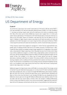 2018-05 Oil - Data review - US Department of Energy cover